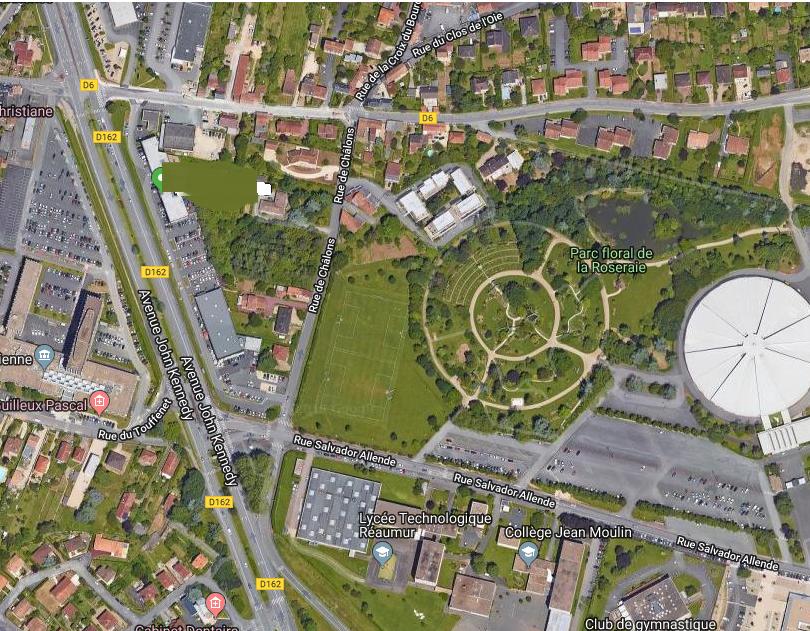 situation du parc de la Roseraie de Poitiers