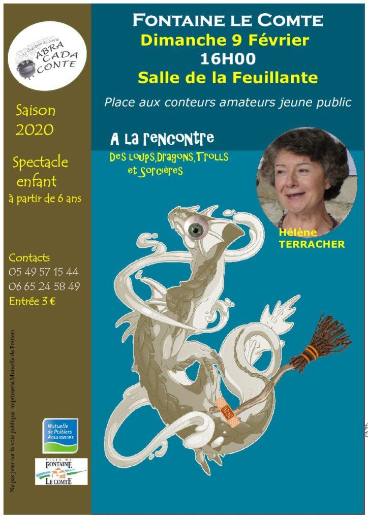Place aux Conteurs amateurs jeune public: Hélène Terracher. Février 2020
